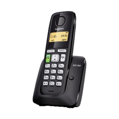 "Gigaset Cordless AS160 Display 1,4"" Vivavoce Dect - Nero"