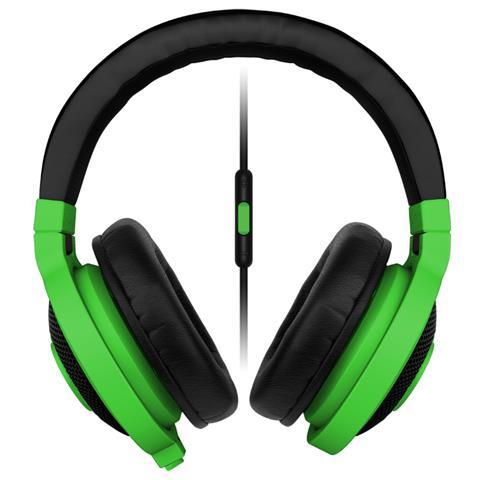 Image of Kraken Mobile Cuffie a Padiglione con Microfono - Verde