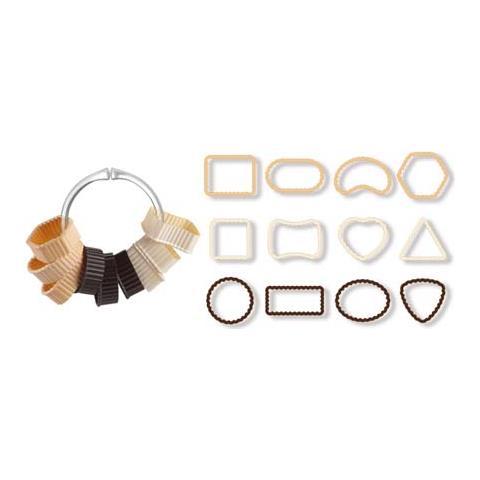 Tagliabiscotti c / bordi festonati in anello 12 pezzi delicia