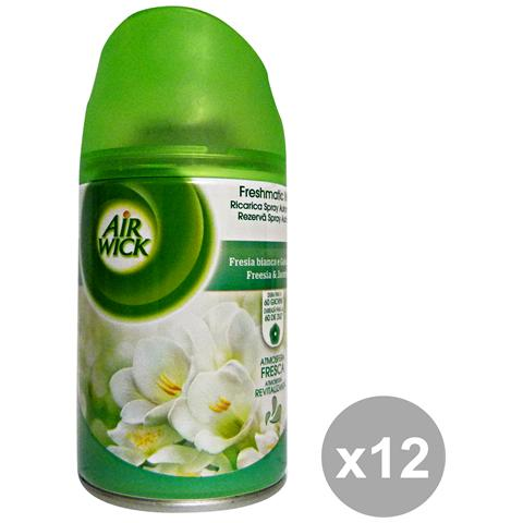 Air Wick Set 12 Freshmatic Max Ricarica Fresia Bianca-gelsomino Deodorante Candele E Profumato