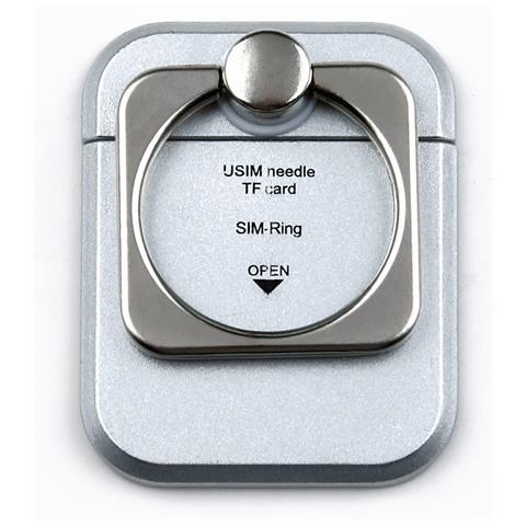 TECHLY I-SMART-RINGS - Anello e Supporto per Smartphone Silver