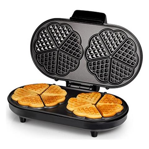 Macchina Da Waffle Wf2120 1200w Acciaio Nero