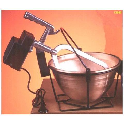 1F Paiolo Elettrico in Rame con Motore 16 W Diametro 26 cm