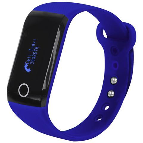 TREVI Smart Band Fitness Con Cardiofrequenzimetro Sf 230 Hr Blu