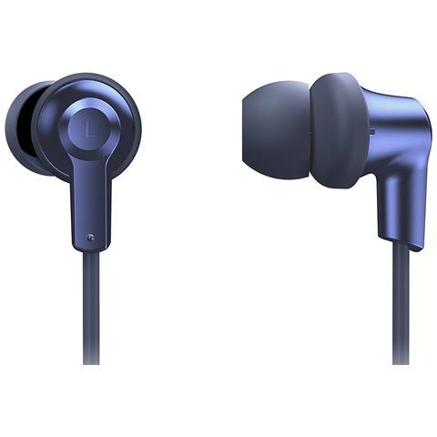 PANASONIC Auricolari Bluetooth con Microfono Design Ergonomico Fit Colore Blu