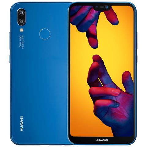 "HUAWEI P20 Lite Blu Dual Sim Display 5.8"" Full HD Octa Core Ram 4GB Storage 64GB +Slot MicroSD Wi-Fi + 4G Fotocamera 16Mpx Android 8.0 - Italia"