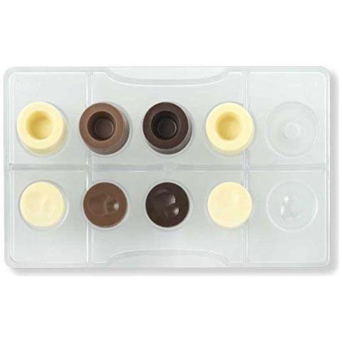 Decora Stampo cioccolato tondo componibile in policarbonato