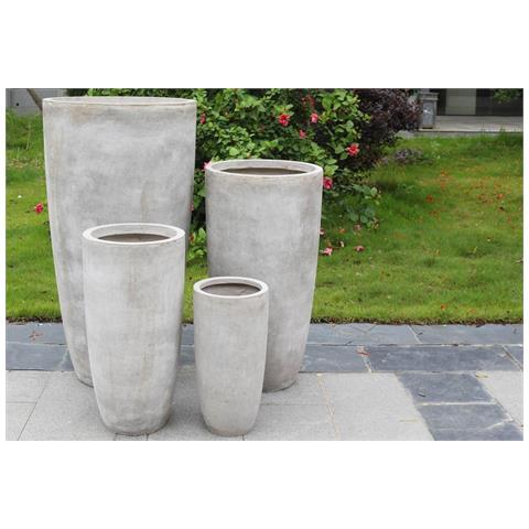 Set Di 4 Vasi Beige Per Esterno Giardino, Portico, Ristorante, Gelateria Bar Hotel Albergo...
