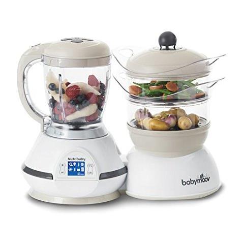 Nutribaby Robot da Cucina Cuocipappa e Frullatore Capacità 1.5 L Potenza 500 W Colore Bianco / Crema