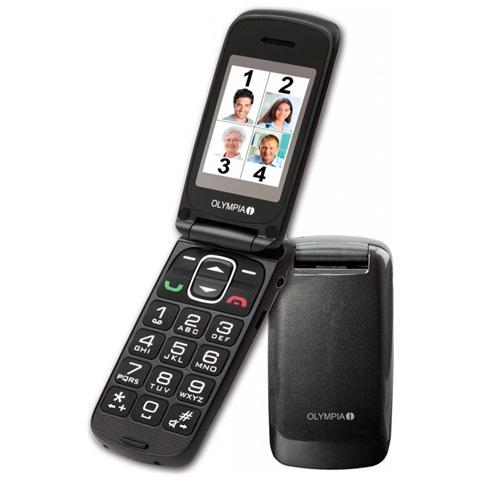 """Olympia Classic Mini Senior Phone Colore Antracite Display 2"""" Bluetooth con Tasti Grandi + SOS"""