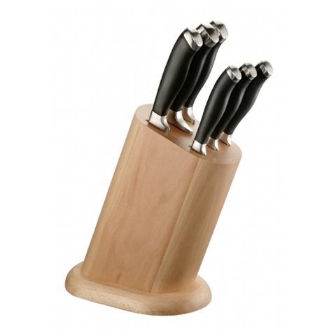 Ceppo in legno 6 Coltelli da Bistecca - Linea Professional