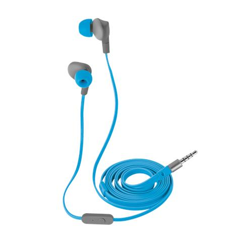 TRUST URBAN Fit auricolari in-ear sport con aggancio regolabile over-the-ear e microfono in linea - blue