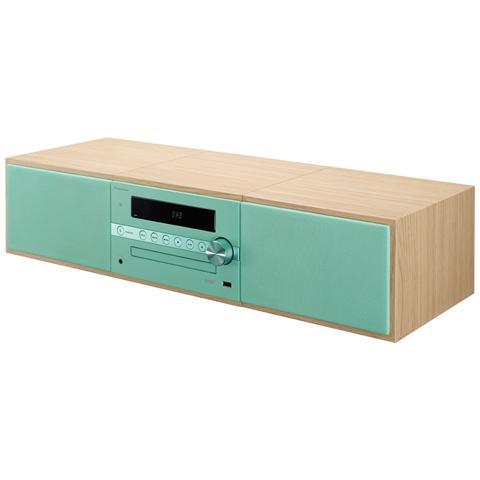 PIONEER Sistema Micro Hi-Fi X-CM56 Potenza 30W Lettore CD Supporto MP3 USB Bluetooth colore Marrone / Verde
