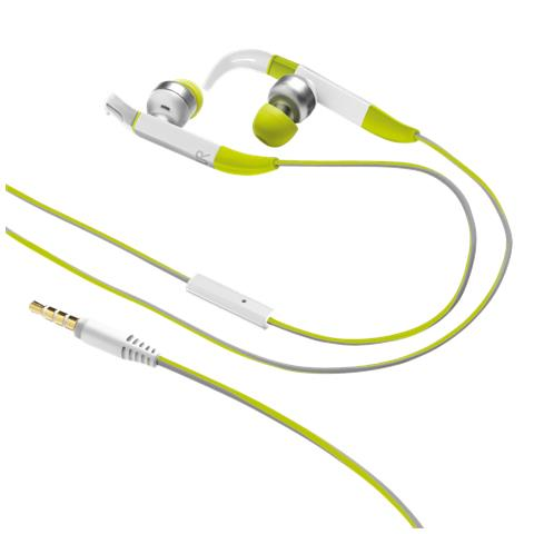 TRUST URBAN Fit auricolari in-ear sport con aggancio regolabile over-the-ear e microfono in linea - green
