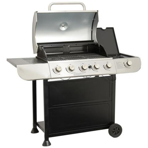 CARREFOUR Kentucky - Barbecue a Gas - 5 Fiamme+1 Accensione Elettrica