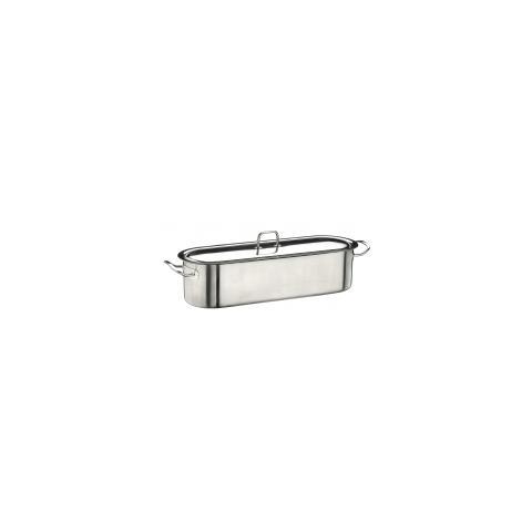 PINTI INOX Cuocipesce Mondofondo Acciaio Inox 50 cm - Linea Professional