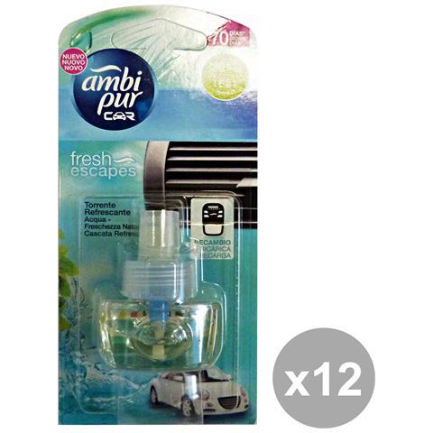 Ambi-Pur Set 12 Auto Ricarica Aqua Deodorante Accessori Auto E Mo