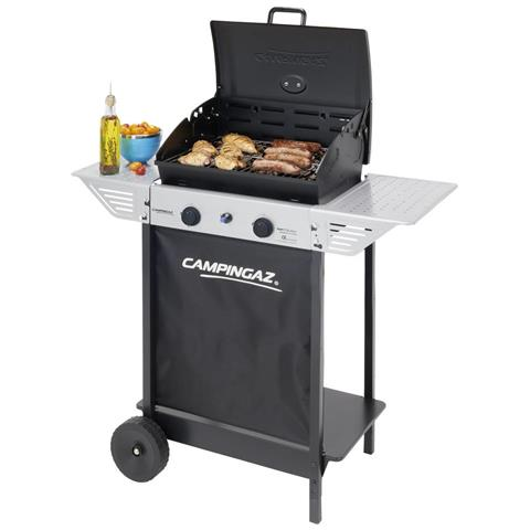 Campingaz 2 Series Classic Xpert 100 L Plus Rocky Barbecue Carrello Gas naturale 7100W Nero, Argento