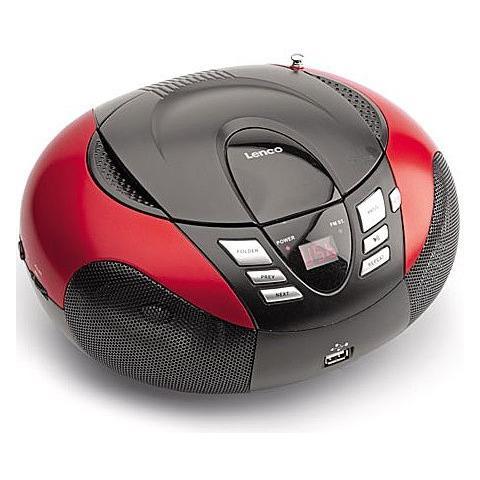 Lenco SCD-37 USB rosso