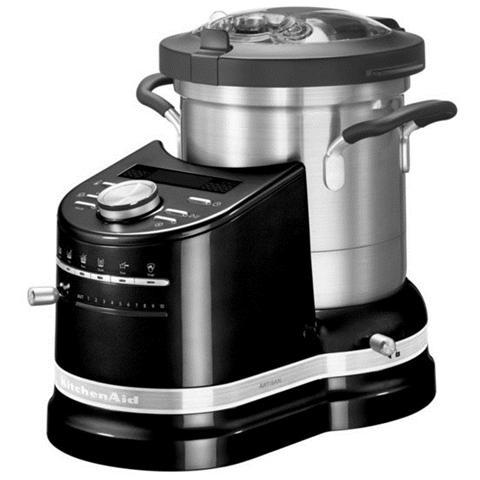 Cook Processor Artisan Robot da Cucina Potenza 1500 Watt Capacità 4.5 Litri 5KCF0103EOB Colore Nero Onice