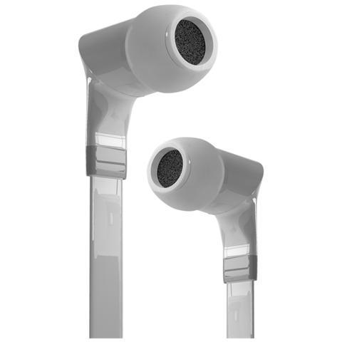 SBS Auricolari stereo Flat con cavo piatto colore Bianco con Connettore Jack 3.5 mm