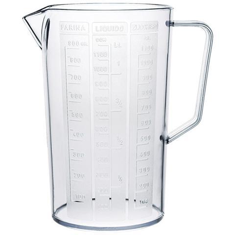 Caraffa in plastica trasparente con scala graduata lt 1,5 cm D 12xH 19