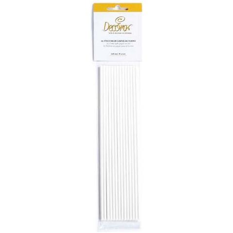 Decora Confezione 25 stecche in carta forno 6 x 360mm