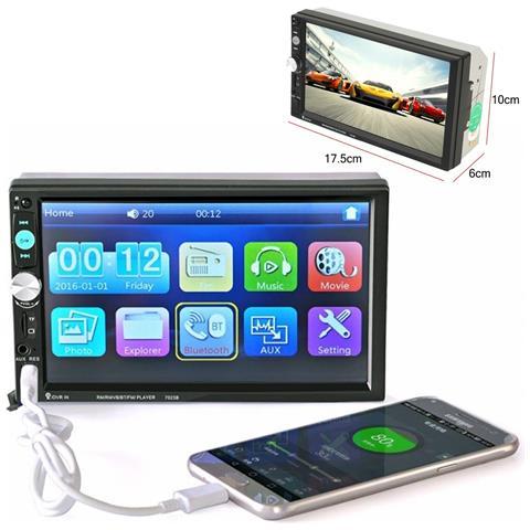 Stereo 7023b Lcd 7,0'''''''' Full Hd 1080p Auto Mp4 Mp5 Radio Fm Bluetooth Telecomando''