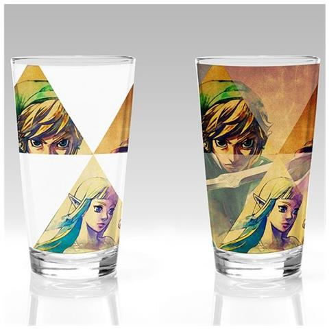 Nintendo: Legend Of Zelda (the) - Hyrule (bicchiere Termosensibile)