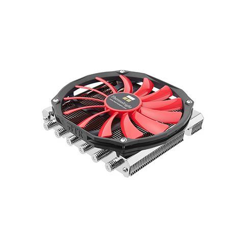 Thermalright AXP-200R, Refrigeratore, Processore, 14 cm, Nero, Rosso, Argento, 14 cm, 15,3 cm