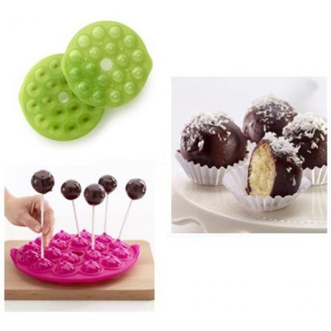 Lekué Stampo Di Silicone Verde Per Preparare Le Cake Pops, Palline Di Torta Lekuè