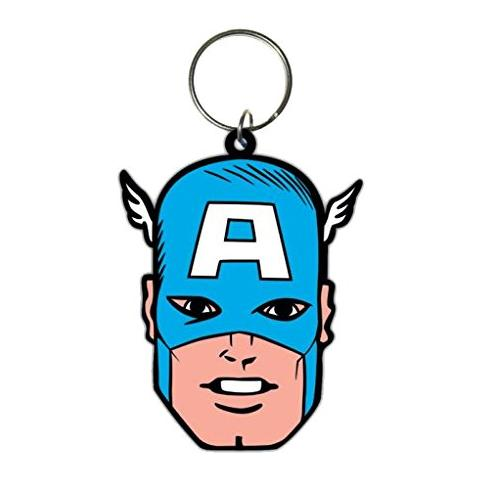 PYRAMID Captain America - Face (Portachiavi Gomma)