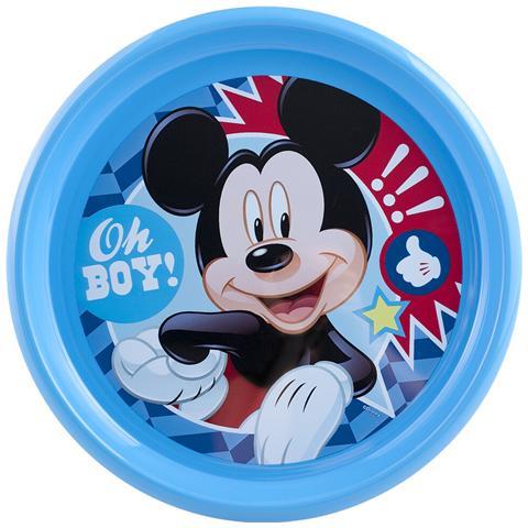 Home Set 6 Piatti Polipropilene Disney Mickey2 Piano 22,5 Pappa Bimbi