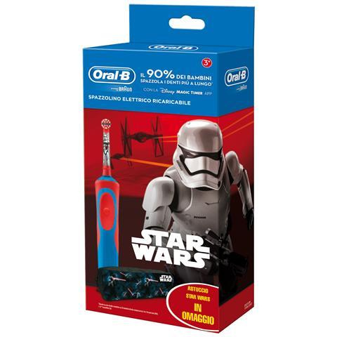 BRAUN Spazzolino Elettrico Star Wars Rotante-Oscillante Blu e Rosa