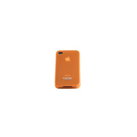 CABLE TECHNOLOGIES Cover posteriore in TPU Orange per iPhone 4