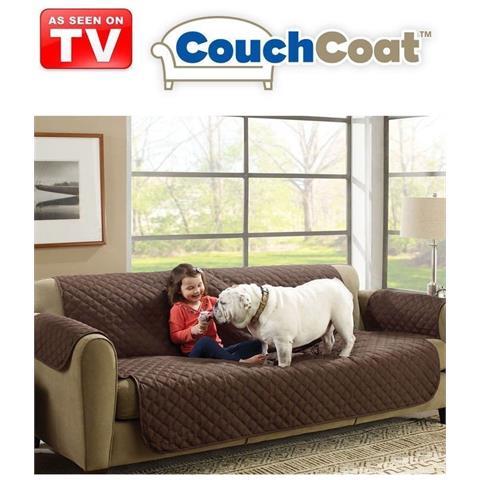 Copridivano Protezione Cane E Gatto Couch Coat Reversibile 2 Colori Brown Beige