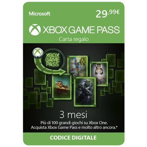 MICROSOFT Carta Regalo Game Pass 3 Mesi - Digital Download