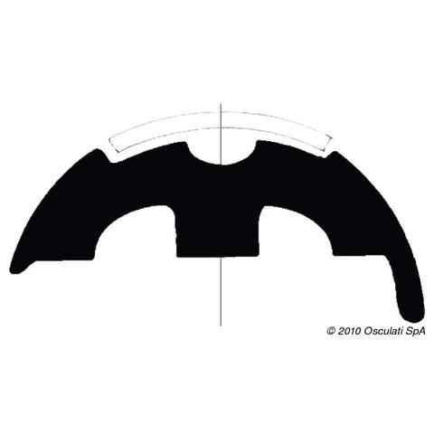 Base per profili PVC bianco 45 mm
