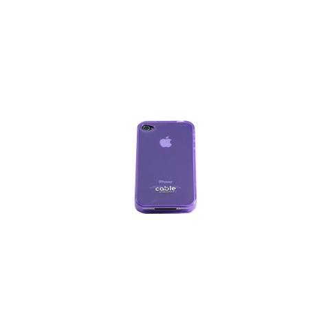 CABLE TECHNOLOGIES Cover posteriore in TPU PURPLE per iPhone 4