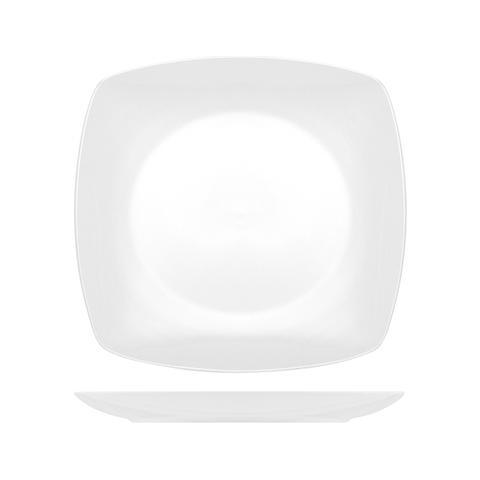 Pasabahce Piatto Porcellana Square Tavola Piano Cm26 Tableware