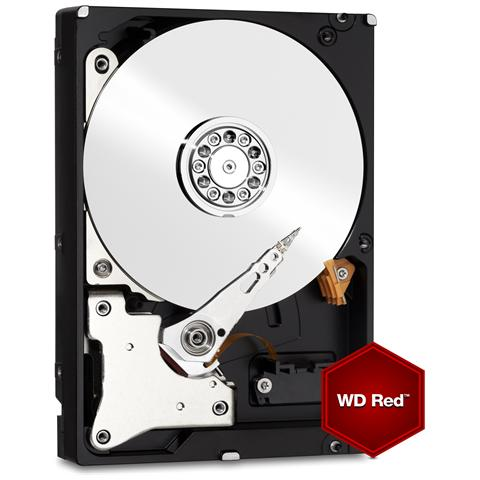 """WESTERN DIGITAL Hard Disk per NAS WD Red 4 TB 3.5"""" Sata III 6 Gb / s Buffer 64 Mb Intelli Power"""