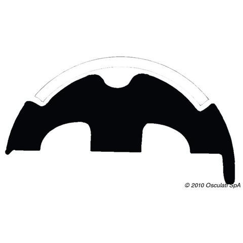 Base per profili PVC bianco 50 mm