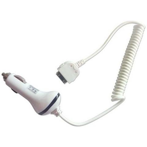Network Shop Alimentatore Da Auto Bianco Per Iphone 4s 4 3gs 3g Ipod