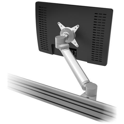 Viewlite Plus Braccio Porta Monitor - Binario 512 Colore Argento / Bianco