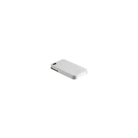 CABLE TECHNOLOGIES Custodia in fibra di carbonio WHITE per iPhone 4
