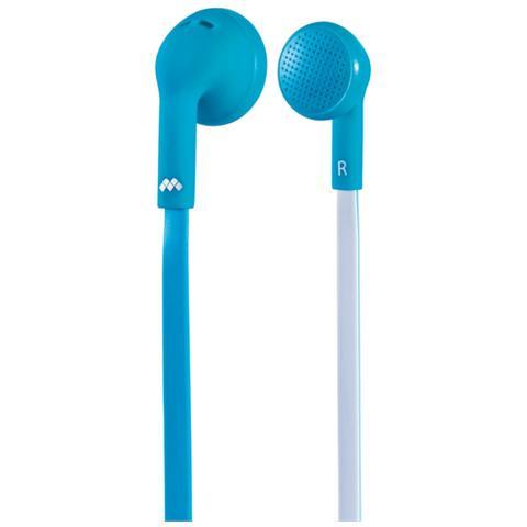 MELICONI Auricolare Flat Microfono Azzurro