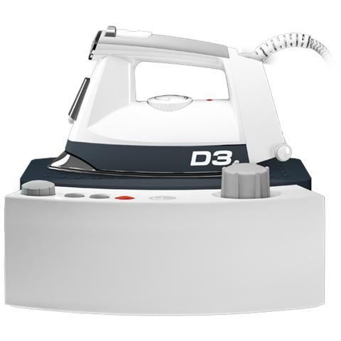 JAGUA D3 Ferro da Stiro con Caldaia Potenza 2000 Watt Colore Bianco