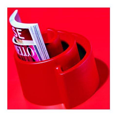 confalonieri Con & Con Portariviste, Modello Chiocciola Rosso
