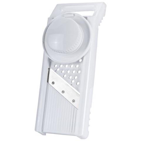 - Grattugia Universale In Plastica Mandolino, Colore: Bianco