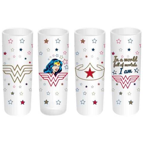 Dc Comics: Wonder Woman - Stars (set 4 Bicchieri Piccoli)